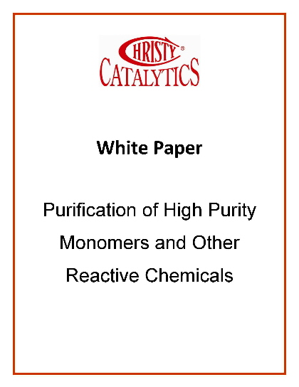 Purification of Monomers and other Reactive Chemicals