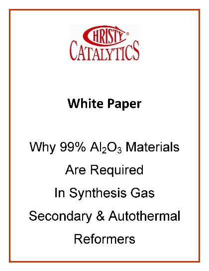 High alumina materials for synthesis gas secondary and autothermal reformers