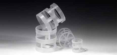 Plastic Pall Rings by Christy Catalytics